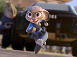 "This image released by Disney shows Judy Hopps, voiced by Ginnifer Goodwin, in a scene from the animated film, ""Zootopia."" (Disney via AP)"