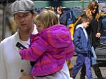 //\nEXCLUSIVE: Tom Brady and Gisele Bundchen take their kids and nanny to lunch at Standard Grille in the Meatpacking District after a day of watching soccer game with oldest son Jack in New York City. Gisele also visited a beauty salon in the West Village. The family then ended the day by dropping off Jack to mom and Tom's ex-girlfriend Bridget Moynahan.\nPlease byline:TheImageDirect.com\n