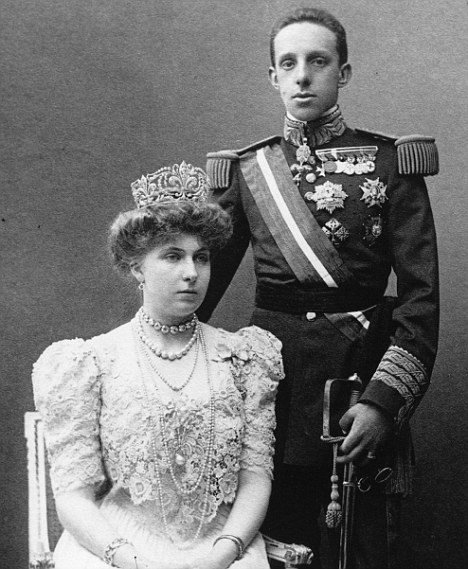 Claim: Mr De Bourbon said he was related to the late Spanish King Alfonso XIII and carried around a photograph showing the close resemblance between the two men