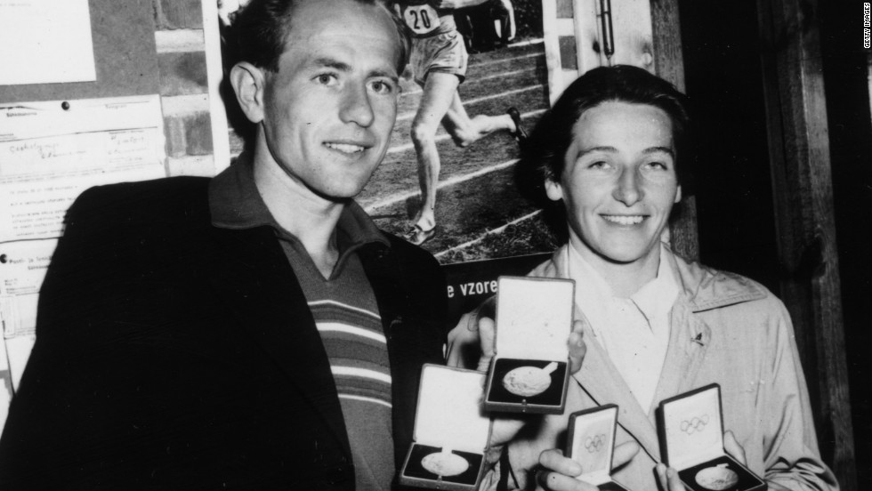 The couple were widely honored for their many achievements in track and field spanning over a decade.
