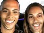Rochelle and Marvin Humes try out funny face swap app