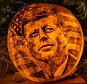 Other political heroes such as John F Kennedy are depicted on the works which took eight weeks to make