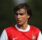 Ignasi Miquel of Arsenal during the Barclays Premier Reserve League match between Wigan Athletic and Arsenal on March 29, 2011 in Wigan, England.  (Photo by Alex Livesey/Getty Images)