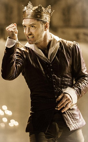 Stirring stuff: Jude Law as King Henry V at the Noel Coward theatre