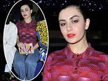 Mandatory Credit: Photo by Dominique Maitre/WWD/REX/Shutterstock (5611727o) Charli XCX in the front row Kenzo show, Autumn Winter 2016, Paris Fashion Week, France - 08 Mar 2016