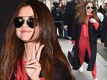 8 March 2016. Selena Gomez is seen arriving in paris for paris fashion week Credit: Warner/Eade/GoffPhotos.com   Ref: KGC-102/195