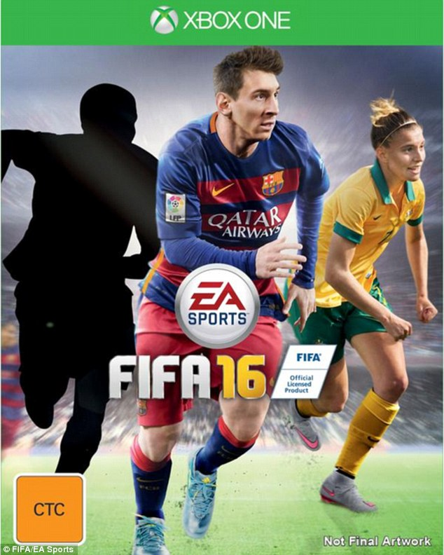 Australia defender Steph Catley will feature on the front cover alongside Barcelona star Lionel Messi