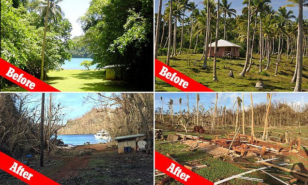 Before and after pictures show the devastation Cyclone Winston caused in Fiji as it tore
