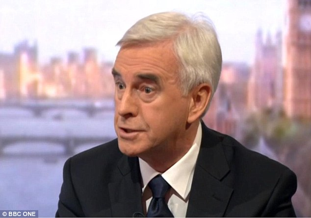 Shadow chancellor John McDonnell today hinted at a free vote for Labour MPs, saying it would be considered by the shadow cabinet issue before talks with the party