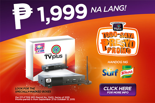 ABS-CBN TVplus, NOW ONLY P1,999