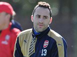 ST ALBANS, ENGLAND - MARCH 4: David Ospina of Arsenal during a training session at London Colney on March 4, 2016 in St Albans, England. (Photo by Stuart MacFarlane/Arsenal FC via Getty Images)