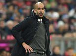 Bayern Munich's Spanish headcoach Pep Guardiola follows the German first division Bundesliga football match of FC Bayern Munich v FSV Mainz 05 in Munich, southern Germany on March 2, 2016. / AFP / CHRISTOF STACHE / RESTRICTIONS: DURING MATCH TIME: DFL RULES TO LIMIT THE ONLINE USAGE TO 15 PICTURES PER MATCH AND FORBID IMAGE SEQUENCES TO SIMULATE VIDEO. == RESTRICTED TO EDITORIAL USE == FOR FURTHER QUERIES PLEASE CONTACT DFL DIRECTLY AT + 49 69 650050 CHRISTOF STACHE/AFP/Getty Images