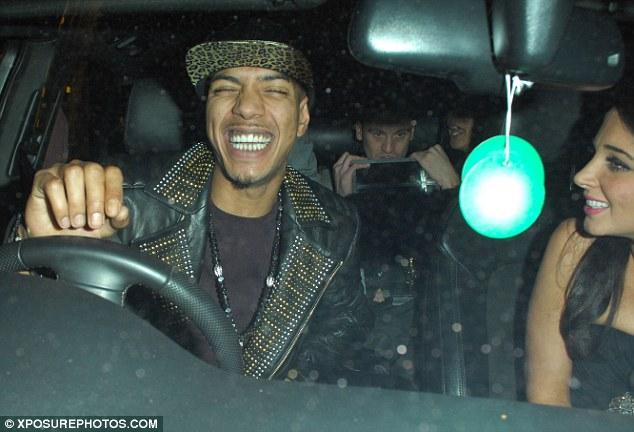 Mood swing: Fazer broke into a grin, but The X Factor judge still appeared tense