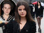 EXCLUSIVE ALL ROUNDERSonia Ben Ammar, who is rumoured to be Brooklyn Beckham's girlfriend, is seen leaving the Louis Vuitton fashion show Fall/Winter ready-to-wear 2016-2017 in Paris, on March 9, 2016.  9 March 2016. Please byline: Vantagenews.com