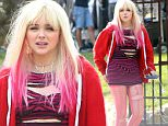 149214, EXCLUSIVE: What clap back? Chloe Grace Moretz spotted back at work in costume for reshoots on the set of 'Neighbors 2' filming in LA. The young starlet recently made headlines after tweeting at a nude Kim Kardashian that women have more to offer than their bodies, with Kim retorting that no one knew Chloe. Photograph: Sam Sharma/JS, © PacificCoastNews. Los Angeles Office: +1 310.822.0419 sales@pacificcoastnews.com FEE MUST BE AGREED PRIOR TO USAGE