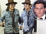 EXCLUSIVE: ** PREMIUM EXCLUSIVE RATES APPLY**  Johnny Depp holding a glass of Red Wine hugs his friends goodbye at the back door of an office building in Downtown, Los angeles, CA\n\nPictured: Johnny Depp\nRef: SPL1243455  090316   EXCLUSIVE\nPicture by: SPW / Splash News\n\nSplash News and Pictures\nLos Angeles: 310-821-2666\nNew York: 212-619-2666\nLondon: 870-934-2666\nphotodesk@splashnews.com\n