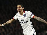Football Soccer - Chelsea v Paris St Germain - UEFA Champions League Round of 16 Second Leg - Stamford Bridge, London, England - 9/3/16  PSG's Angel Di Maria celebrates their first goal  Action Images via Reuters / John Sibley  Livepic  EDITORIAL USE ONLY.