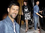 """08 Mar 2016 -Hollywood, CA  - USA **STRICTLY AVAILABLE FOR UK AND GERMANY USE ONLY** Novak Djokovic trying to be very low key while leaving """"The Nice Guy"""" with a mystery girl. BYLINE MUST READ : AKM-GSI-XPOSURE ***UK CLIENTS - PICTURES CONTAINING CHILDREN PLEASE PIXELATE FACE PRIOR TO PUBLICATION *** *UK CLIENTS MUST CALL PRIOR TO TV OR ONLINE USAGE PLEASE TELEPHONE 0208 344 2007*"""