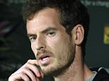 Andy Murray, of Britain, speaks during a news conference at the BNP Paribas Open tennis tournament, Thursday, March 10, 2016, in Indian Wells, Calif. (AP Photo/Mark J. Terrill)