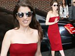 Anna Kendrick visits 'The Late Show with Stephen Colbert' in NYC\n\nPictured: Anna Kendrick\nRef: SPL1244448  100316  \nPicture by: Richie Buxo / Splash News\n\nSplash News and Pictures\nLos Angeles: 310-821-2666\nNew York: 212-619-2666\nLondon: 870-934-2666\nphotodesk@splashnews.com\n