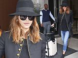 March 10, 2016: Jessica Alba is seen leaving the Edition Hotel, in a fashionable outfit for the airport, to catch a flight, New York City.\nMandatory Credit: Cepeda/INFphoto Ref: infusny-160/259