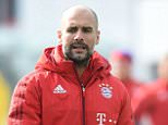Bayern Munich's Spanish head coach Pep Guardiola gestures during a training session of the German first division Bundesliga team in Munich, southern Germany, on March 8, 2016.  / AFP / CHRISTOF STACHECHRISTOF STACHE/AFP/Getty Images