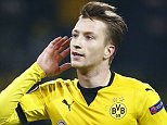 Football Soccer - Borussia Dortmund v Tottenham Hotspur - UEFA Europa League Round of 16 First Leg - Signal Iduna Park, Dortmund, Germany - 10/3/16  Marco Reus celebrates after scoring the third goal for Borussia Dortmund  Reuters / Wolfgang Rattay  Livepic  EDITORIAL USE ONLY.