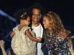 INGLEWOOD, CA - AUGUST 24:  Jay-Z, Beyonce and Blue Ivy Carter onstage at the 2014 MTV Video Music Awards at The Forum on August 24, 2014 in Inglewood, California.  (Photo by Jason LaVeris/FilmMagic)