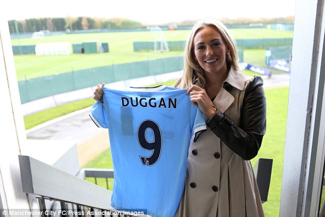 New beginnings: Duggan signed for the newly formed Manchester City Ladies team in November 2013