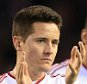 10th March 2016 - UEFA Europa League - Round of 16 (1st Leg) - Liverpool v Manchester United - Ander Herrera of Man Utd (L) and Chris Smalling of Man Utd look dejected following their defeat - Photo: Simon Stacpoole / Offside.