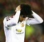 Marouane Fellaini of Manchester United looks dejected during the UEFA Europa League Round of 16 First Leg match between Liverpool and Manchester United played at Anfield Stadium, Liverpool on March 10th 2016