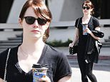 Picture Shows: Emma Stone  March 09, 2016\n \n Actress Emma Stone is seen leaving an office building in Studio City, California. \n \n Emma was rocking an all black ensemble during the outing.\n \n Exclusive - All Round\n UK RIGHTS ONLY\n \n Pictures by : FameFlynet UK © 2016\n Tel : +44 (0)20 3551 5049\n Email : info@fameflynet.uk.com
