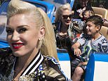 ANAHEIM, CA - MARCH 10:  In this handout photo provided by Disney Parks, Gwen Stefani and son Kingston Rossdale, 9, ride Luigi¿s Rollickin¿ Roadsters, the all-new Cars Land attraction at Disney California Adventure Park March 10, 2016 in Anaheim, California.  (Paul Hiffmeyer/Disneyland Resort via Getty Images)