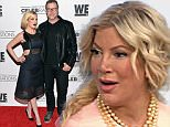 LOS ANGELES, CA - JANUARY 15:  TV personalities Tori Spelling and Dean McDermott attend the David Tutera's 50th birthday celebration at Vibiana on January 15, 2016 in Los Angeles, California.  (Photo by Michael Tullberg/Getty Images)