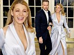 Mandatory Credit: Photo by REX/Shutterstock (5612566f)\nRyan Reynolds and Blake Lively\nTrudeau State Dinner, Washington, America - 10 Mar 2016\n