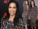 "NEW YORK, NY - MARCH 10:  Actress Rosario Dawson attends the ""Daredevil"" Season 2 Premiere at AMC Loews Lincoln Square 13 theater on March 10, 2016 in New York City.  (Photo by Jamie McCarthy/Getty Images)"