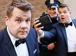 """NEW YORK, NY - MARCH 11:  James Corden films a  """"Carpool Karaoke"""" promo for """"The Late Late Show with James Corden"""" in Times Square on March 11, 2016 in New York City.  (Photo by Bruce Glikas/Bruce Glikas/FilmMagic)"""