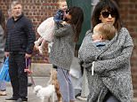 11.March.2016 - New York - USA\n***AVAILABLE FOR UK AND GERMANY SALE ONLY ***\nExpectant parents Alec and Hilaria Baldwin take a Friday morning walk with their two pups and their 2-year old daughter Carmen. The couple also have a 9 month old son Rafael and just announced they are expecting their third child, a baby boy in the fall. They are going to have their hands full!\nBYLINE MUST READ: AKM-GSI-XPOSURE\n***UK CLIENTS - PICTURES CONTAINING CHILDREN PLEASE PIXELATE FACE PRIOR TO PUBLICATION ***\n*UK CLIENTS MUST CALL PRIOR TO TV OR ONLINE USAGE PLEASE TELEPHONE 0208 344 2007*