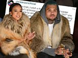 NEW YORK, NY - FEBRUARY 17:  Karrueche Tran (L) and Chris Brown attends the Michael Costello fashion show during Mercedes-Benz Fashion Week Fall 2015  at The Salon at Lincoln Center on February 17, 2015 in New York City.  (Photo by Noam Galai/Getty Images for Mercedes-Benz Fashion Week)