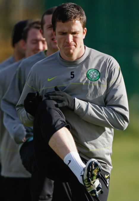 NOVEMBER 04: Gary Caldwell of Celtic and train at the Lennoxtown training ground ahead of their