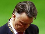 Manchester United manager Louis van Gaal hangs his head during the UEFA Europa League Round of 16 First Leg match between Liverpool and Manchester United played at Anfield Stadium, Liverpool on March 10th 2016