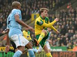 "Football Soccer - Norwich City v Manchester City - Barclays Premier League - Carrow Road - 12/3/16  Norwich City's Patrick Bamford hits the crossbar  Action Images via Reuters / Tony O'Brien  Livepic  EDITORIAL USE ONLY. No use with unauthorized audio, video, data, fixture lists, club/league logos or ""live"" services. Online in-match use limited to 45 images, no video emulation. No use in betting, games or single club/league/player publications.  Please contact your account representative for further details."