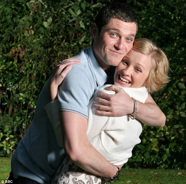 Joanna and co-star Mathew Horne in Gavin and Stacey