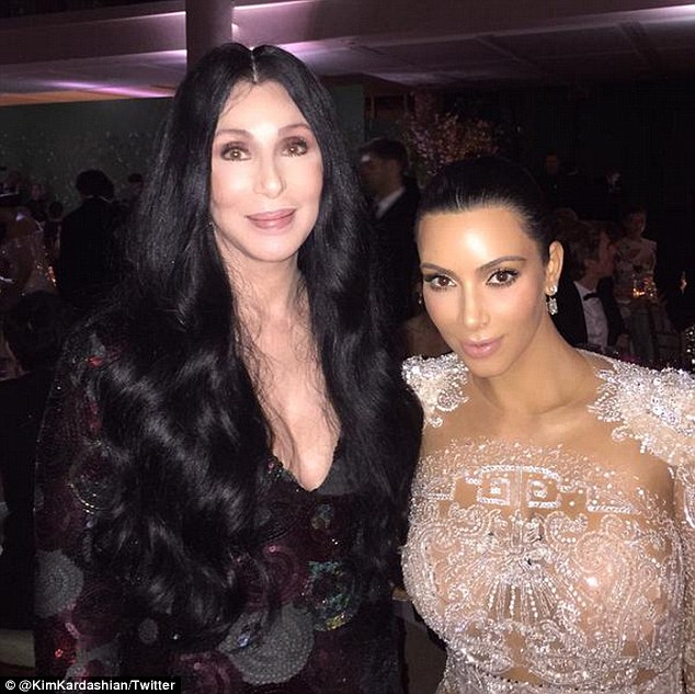 Meeting her inspiration: Kim said that she was so excited to meet Cher at this year's Met Gala, where the two posed for pictures and discussed being Armenian