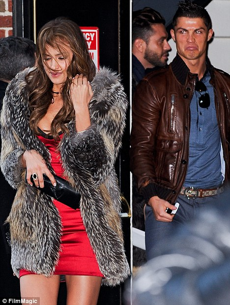Biggest fan: Irina's supporter and boyfriend Cristiano Ronaldo made sure to join her at the Ed Sullivan Theatre last night as she appeared on the Late Show With David Letterman