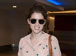 Anna Kendrick seen at LAX airport in Los Angeles, California.  Pictured: Anna Kendrick Ref: SPL1242784  120316   Picture by: Diabolik / Splash News  Splash News and Pictures Los Angeles: 310-821-2666 New York: 212-619-2666 London: 870-934-2666 photodesk@splashnews.com