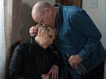 WARNING: Embargoed for publication until 00:00:01 on 15/03/2016 - Programme Name: Eastenders - TX: 21/03/2016 - Episode: 5249 (No. n/a) - Picture Shows: ***FORTNIGHTLIES PLEASE DO NOT USE (SOAP LIFE AND ALL ABOUT SOAP) Phil gets close to Shirley.  Shirley Carter (LINDA HENRY), Phil Mitchell (STEVE MCFADDEN) - (C) BBC - Photographer: Jack Barnes