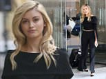 12.MARCH.2016 - LONDON - UK **EXCLUSIVE ALL ROUND PICTURES** Sarah Ellen looks sensational in an off the shoulder black ensemble while at a business meeting in central London! The actress will make her Neighbours debut on the 22nd April as Kylie Minogues and Jason Donovans child! BYLINE MUST READ : XPOSUREPHOTOS.COM ***UK CLIENTS - PICTURES CONTAINING CHILDREN PLEASE PIXELATE FACE PRIOR TO PUBLICATION *** **UK CLIENTS MUST CALL PRIOR TO TV OR ONLINE USAGE PLEASE TELEPHONE  44 208 344 2007 ***