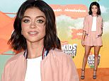 INGLEWOOD, CA - MARCH 12:  Actress Sarah Hyland attends Nickelodeon's 2016 Kids' Choice Awards at The Forum on March 12, 2016 in Inglewood, California.  (Photo by Jason Merritt/Getty Images)
