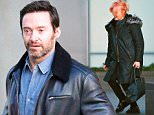 New York, NY - Hugh Jackman and wife Deborra-Lee Furness were seen outside their West Village home heading for a night out. The two were dressed warm and bundled up for the cold New York night. Deborra-Lee donned a new pink hairstyle tied in a small ponytail as she was headed for the car. Jackman looked healthy after his news that he had his fifth skin cancer scare removed from his face. \n  \nAKM-GSI      March 11, 2016\nTo License These Photos, Please Contact :\nSteve Ginsburg\n(310) 505-8447\n(323) 423-9397\nsteve@akmgsi.com\nsales@akmgsi.com\nor\nMaria Buda\n(917) 242-1505\nmbuda@akmgsi.com\nginsburgspalyinc@gmail.com
